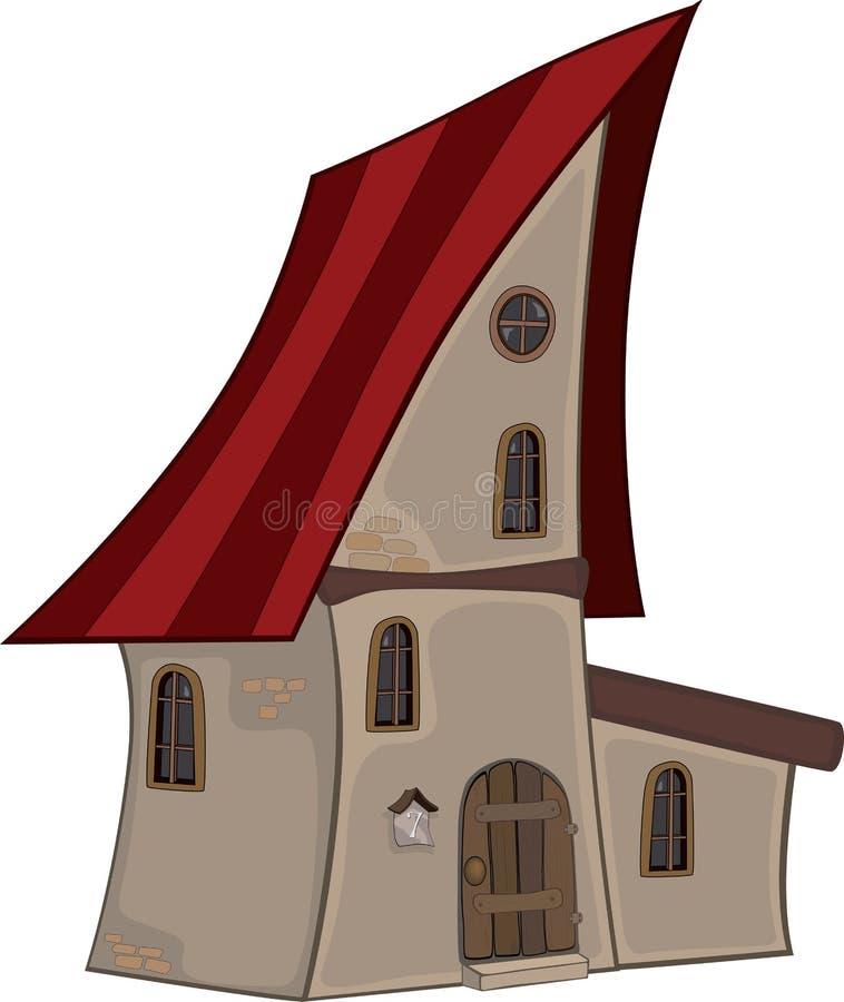 Small house cartoon stock illustration