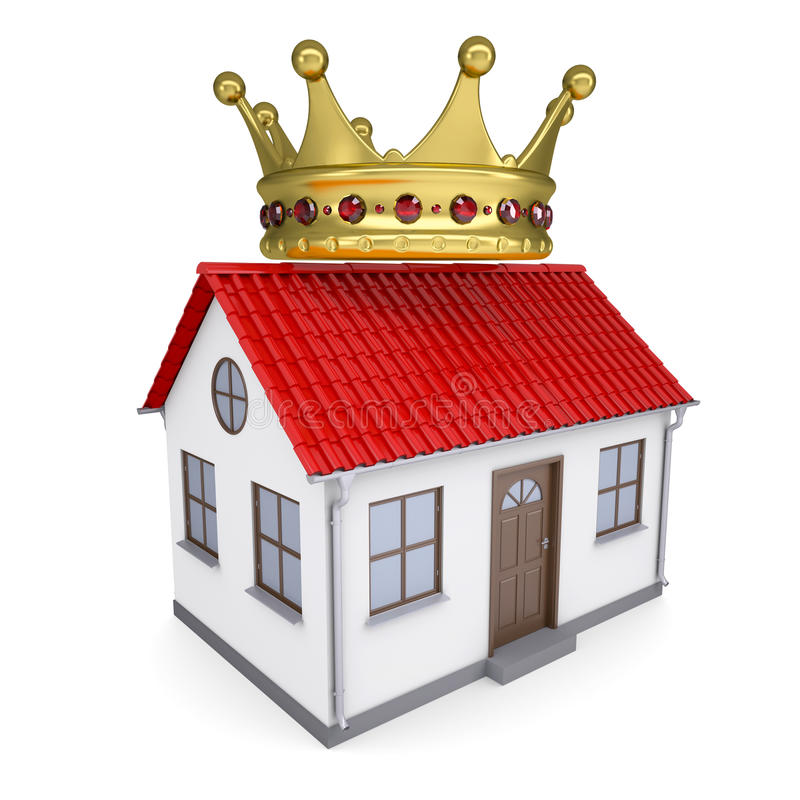 Download A small house with a crown stock illustration. Image of house - 31497403