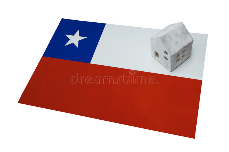 Small house on a flag - Chile royalty free stock photography