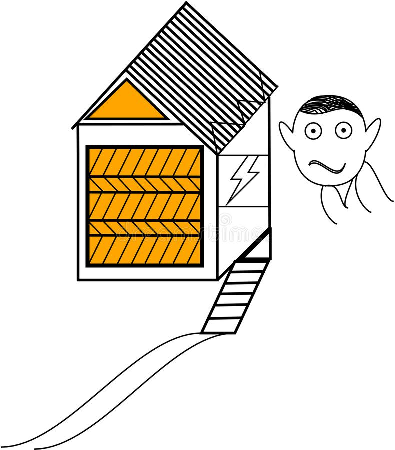 Small house illustration royalty free stock photo