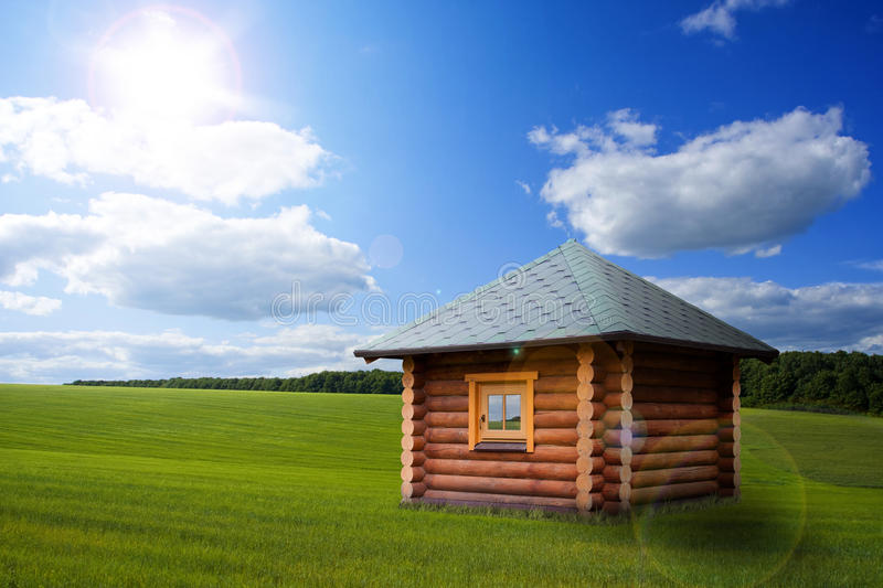 Download Small House On Meadow Royalty Free Stock Image - Image: 25233176