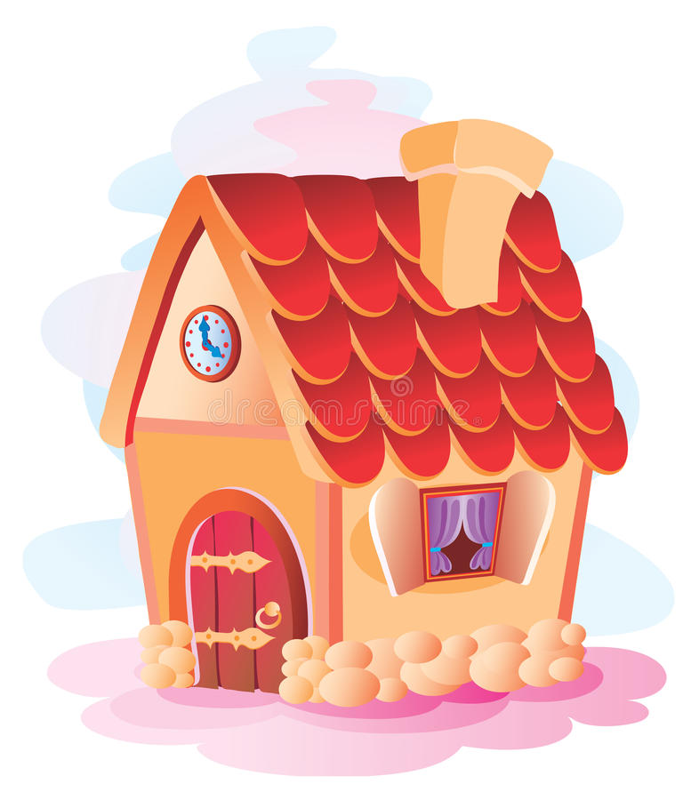 Small house royalty free illustration