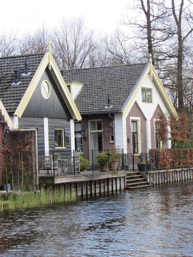 A Small House By The River. A Small and Lonley House by the river in a small town near Amsterdam Netherlands royalty free stock photography