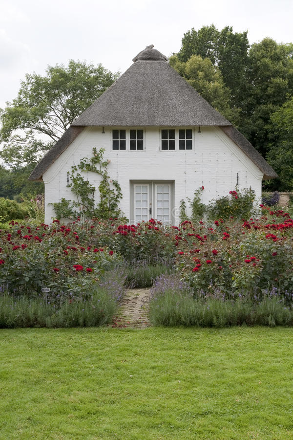 Small House In The Rose Garden Stock Photo Image Of Color Door