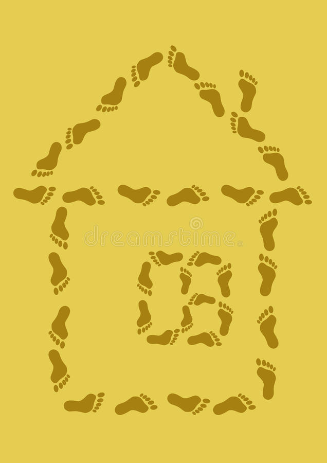 Download Small House From Traces On Sand Stock Vector - Illustration: 14766722