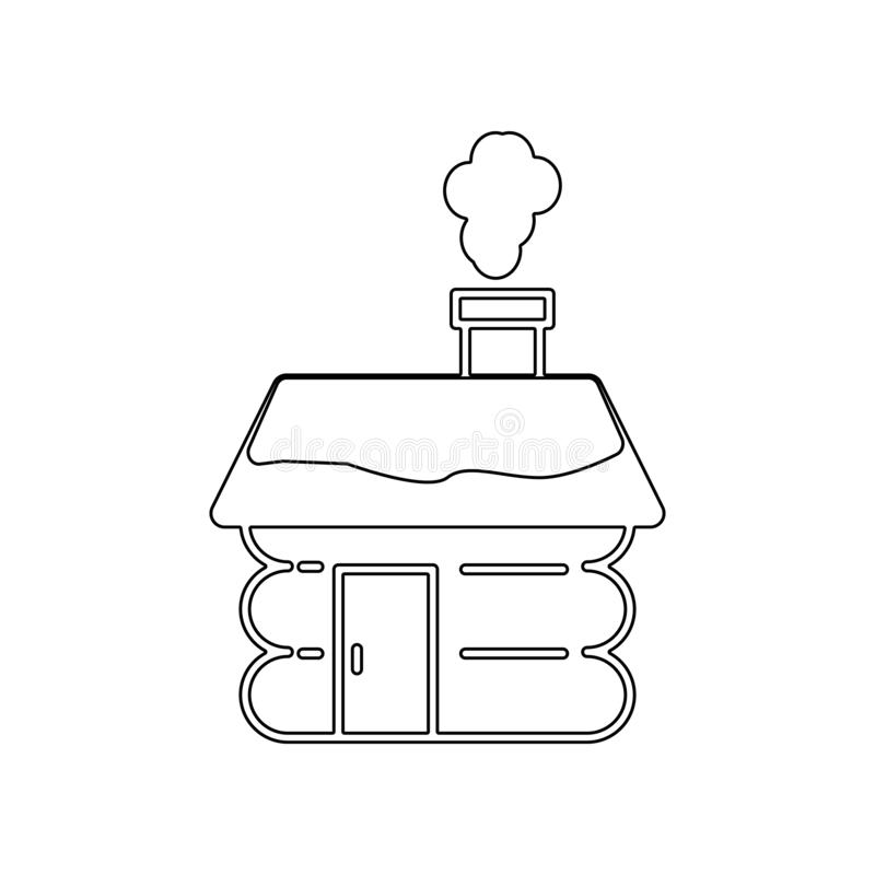 Small Hut icon. Element of Winter for mobile concept and web apps icon. Outline, thin line icon for website design and development stock illustration