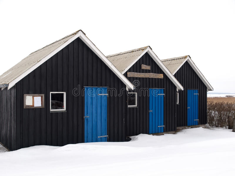 Download Small Huts stock image. Image of winter, house, snow - 13178477