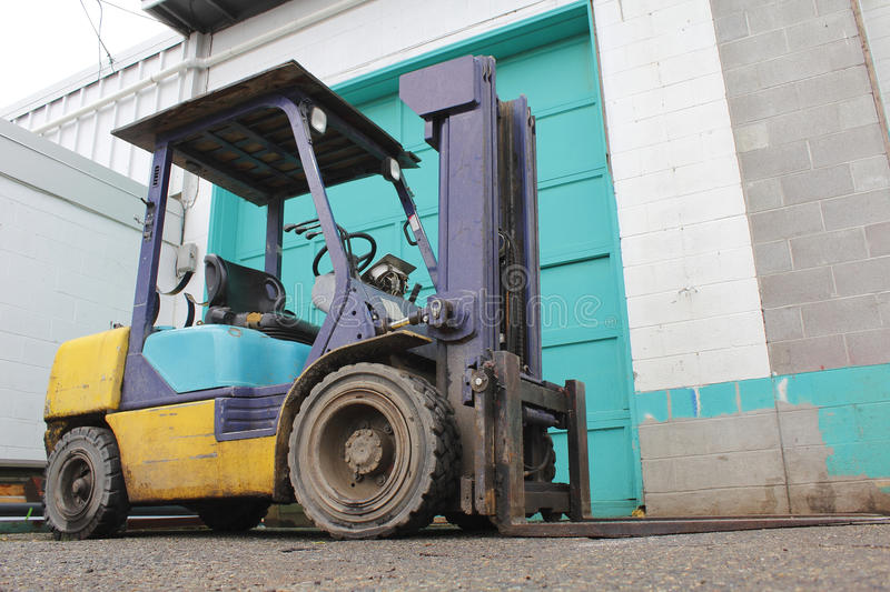 Small Industrial Forklift stock image