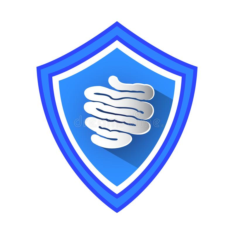 Free Small Intestine Protection Shield. Stock Photos - 114350603
