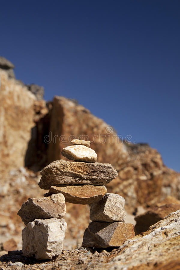 A Small Inukshuk Royalty Free Stock Photography