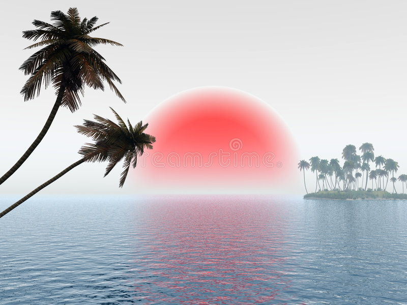 Small Island vector illustration