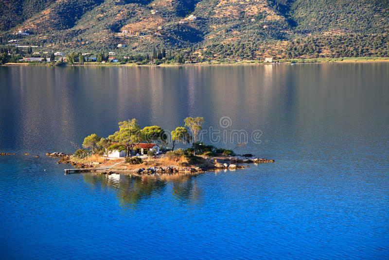 Small island in Aegean sea stock photography