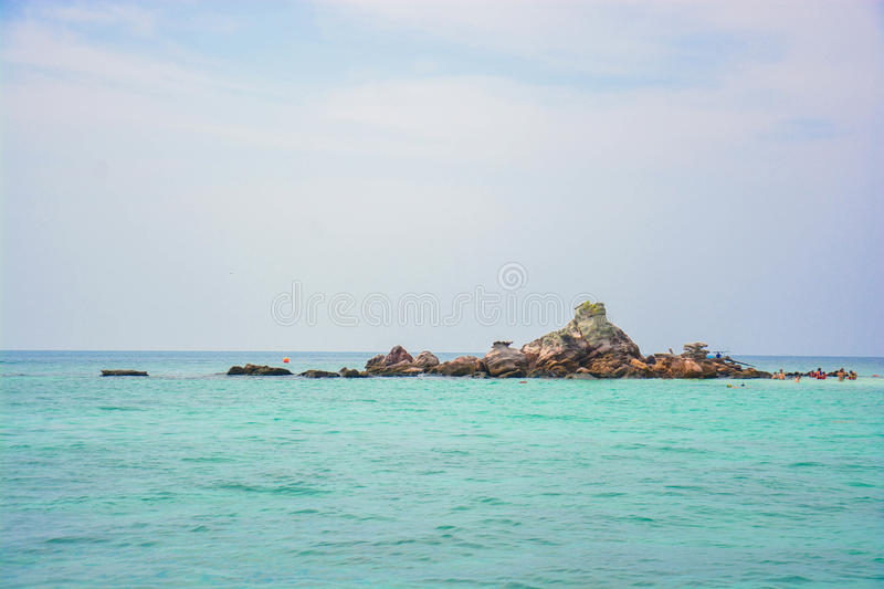 A small island in big ocean royalty free stock photography