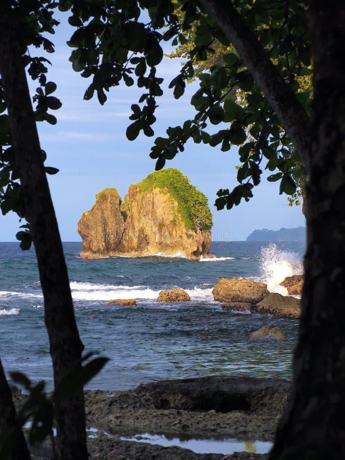 Download Small island in Costa Rica stock photo. Image of america - 19640054
