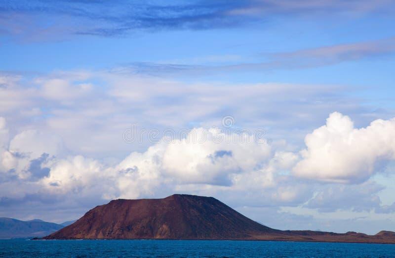 Small island Isla de Lobos royalty free stock photos