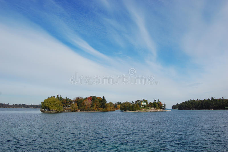 Small Island in Thousand Islands Region, New York stock photos