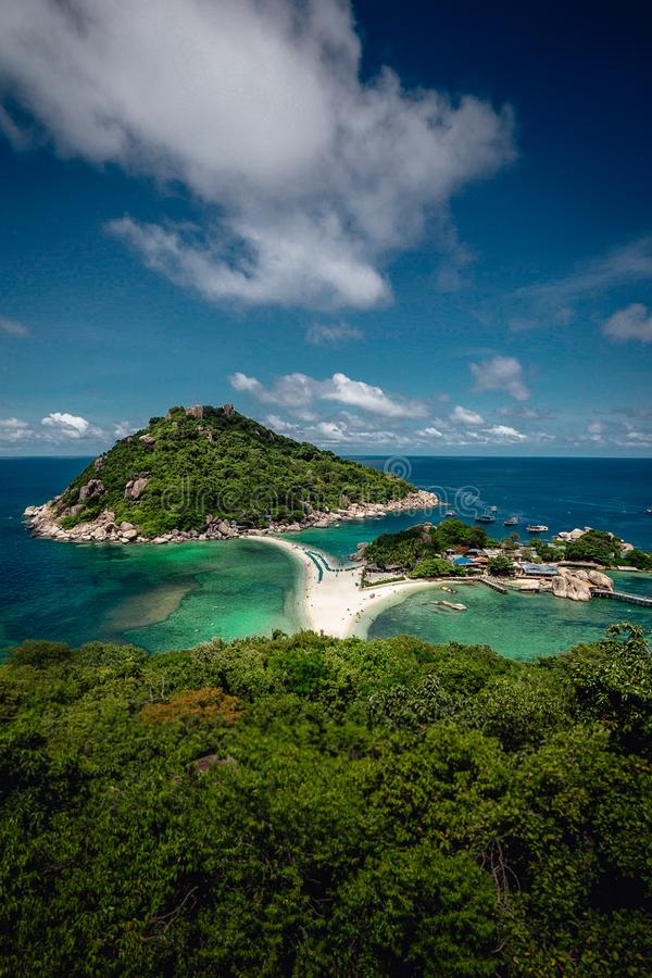 Koh Tao Islands. Small Islands beside Koh Tao, Thailand from above stock images