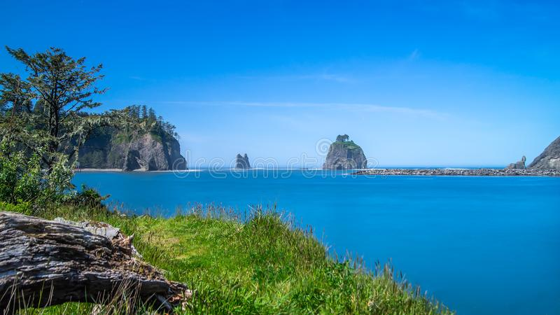 Small Islands Off The NW Coast Of The United States stock photo
