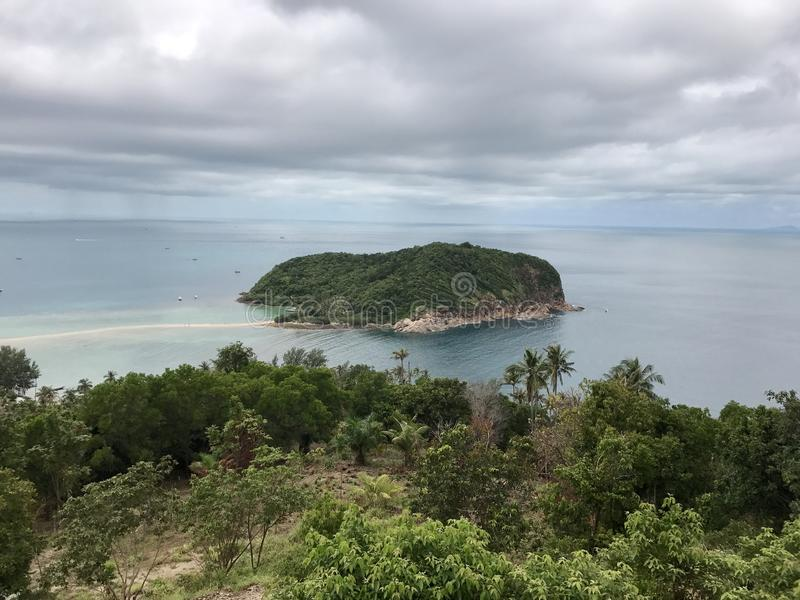 Small islet view stock photography