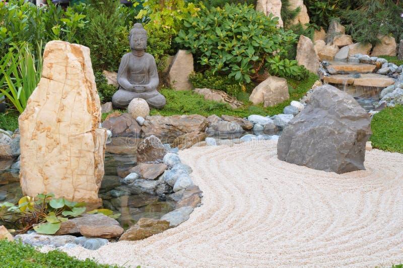 Small japanese garden royalty free stock photos