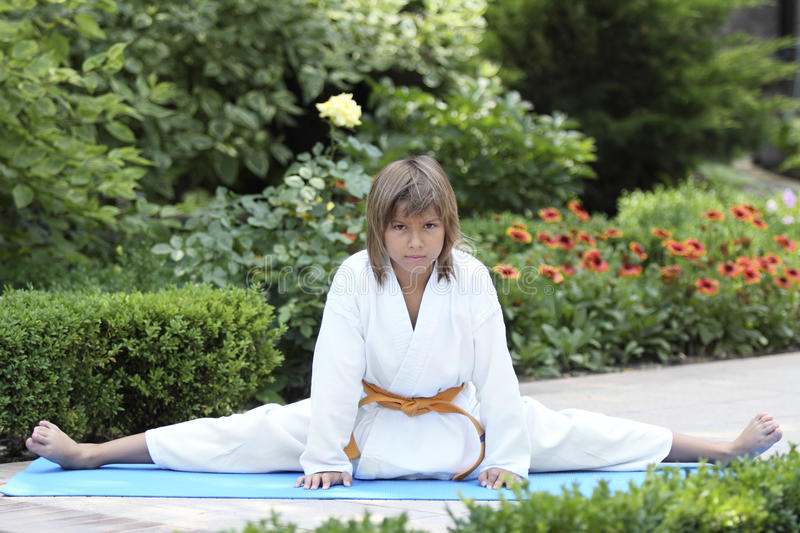 Download Small karate stock photo. Image of discipline, outdoors - 25828034