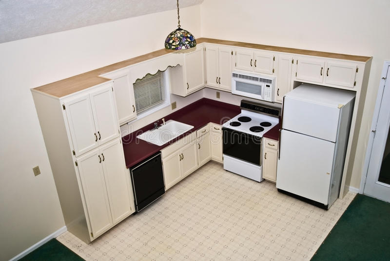 Small Kitchen/Home/Perspective royalty free stock images