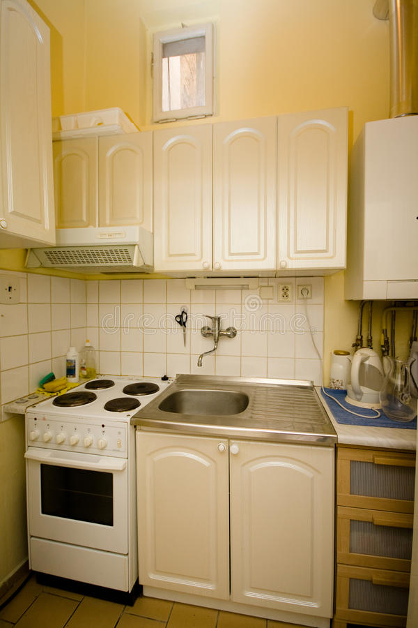 Small kitchen royalty free stock image