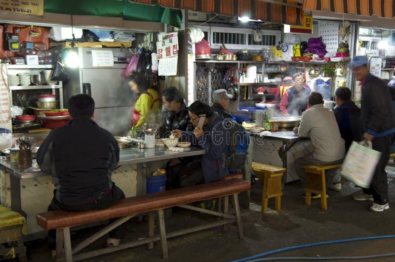 Small korean restaurant royalty free stock photos
