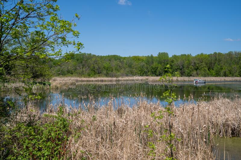Small lake at Clifton French Regional Park in Plymouth Minnesota.  stock photography