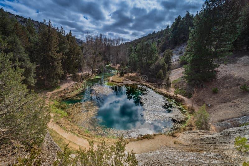 Small lake fuentona stock photos