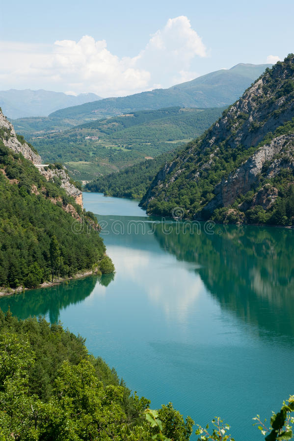 Download Small lake in the Pyrenees stock photo. Image of landscape - 20259972