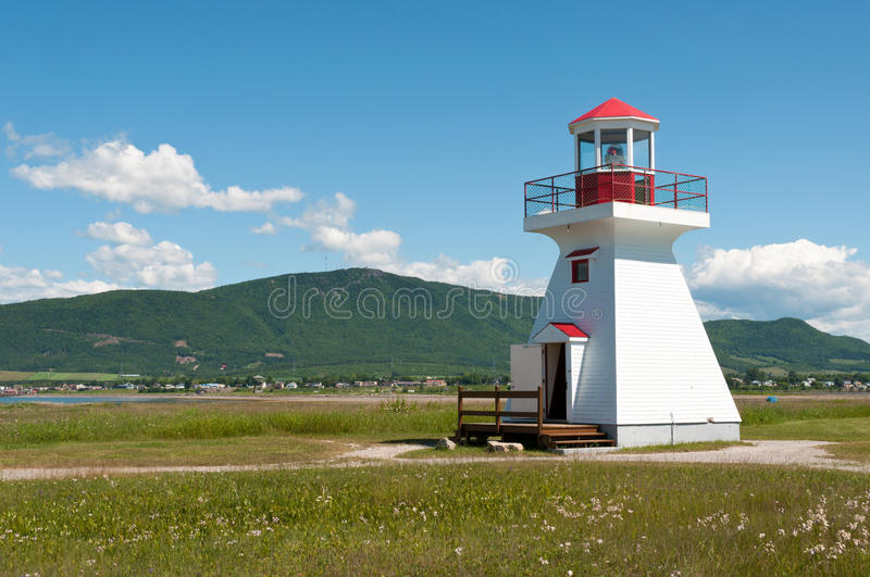 Small lighthouse. From the city of Carleton-Sur-Mer royalty free stock image