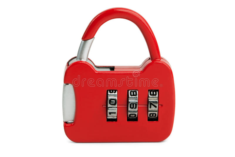 Small Lock With The Code Stock Images