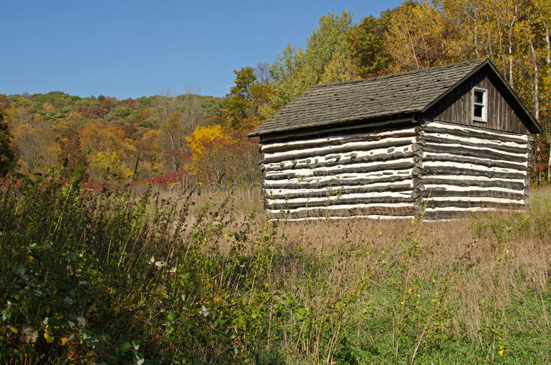 Download Small Log Cabin In Natural Bridge State Park,WI Stock Image    Image Of
