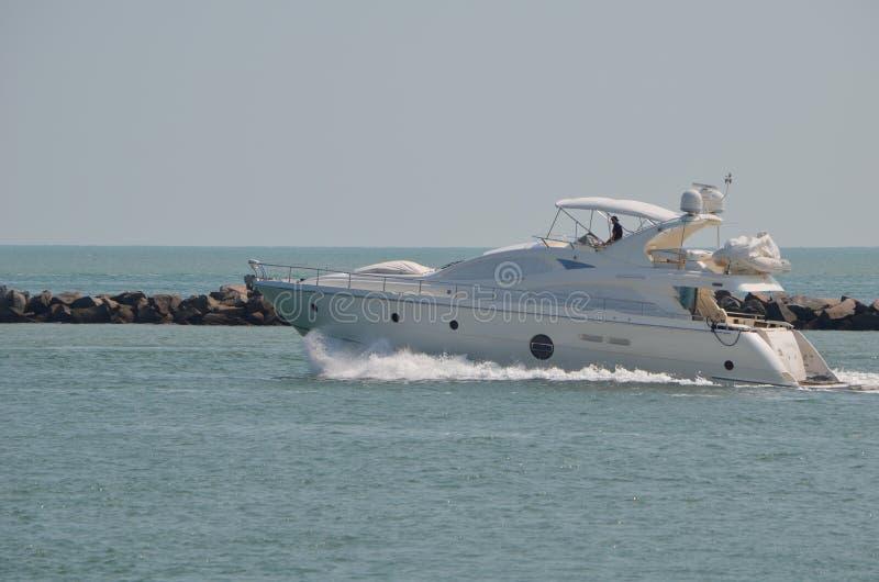 Small Luxury Motor Yacht stock photo