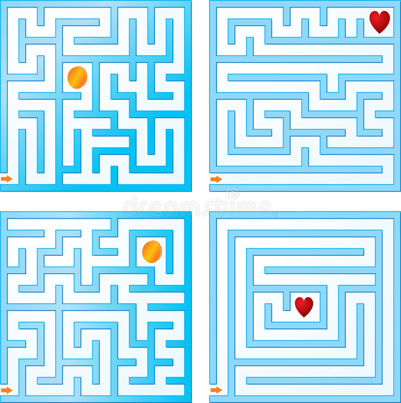 Small maze collections vector illustration