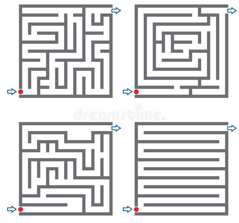 Small mazes vector illustration