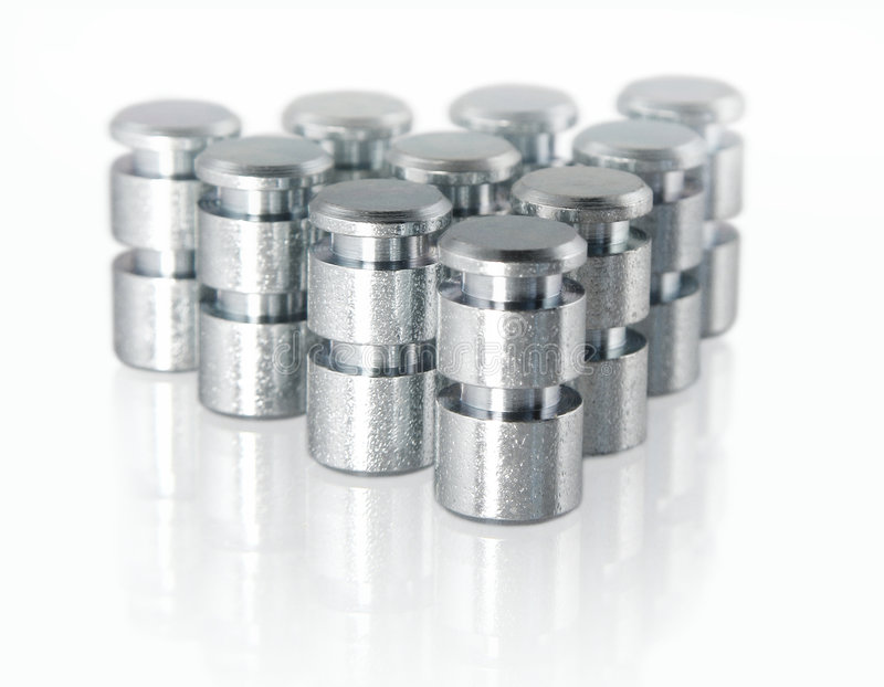Download Small Metal Parts stock photo. Image of machinery, pegs - 2369646