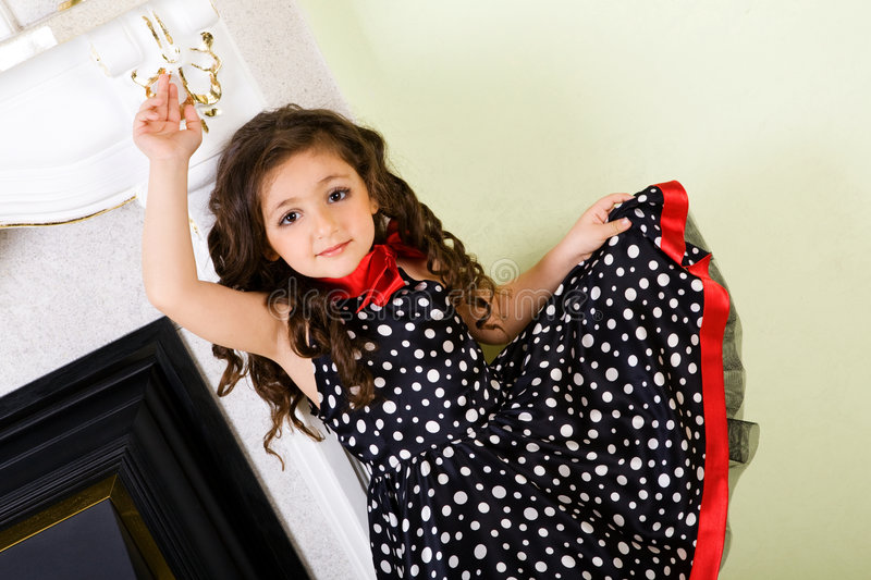 Small model dancing stock photography