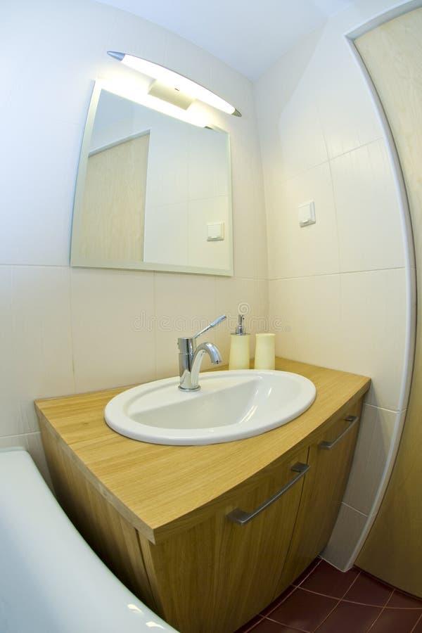 Small modern bathroom stock photography