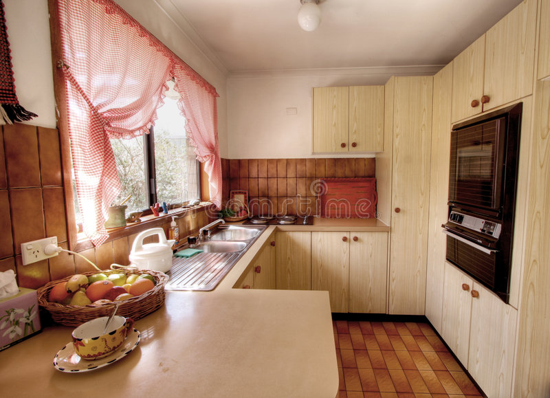 Small modern kitchen royalty free stock images