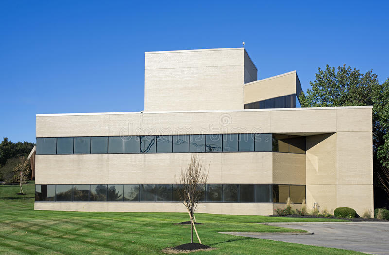 Technology Management Image: Small Modern Office Building Stock Photo