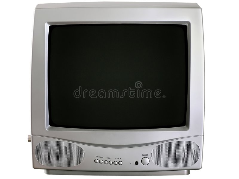 Small modern televisor royalty free stock image