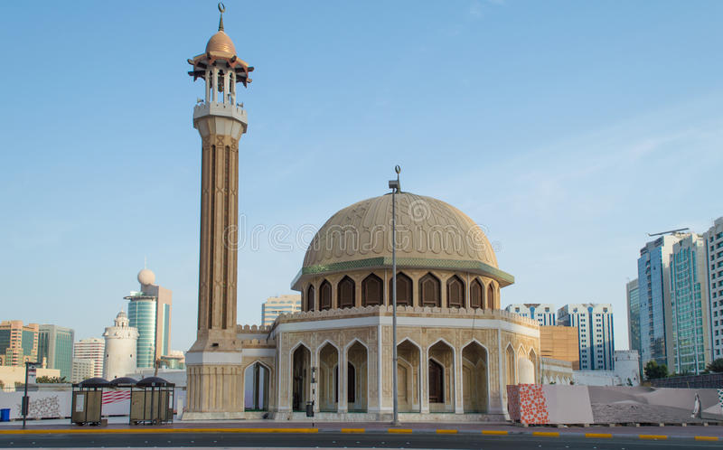 Small Mosque, Abu Dhabi, UAE royalty free stock photography