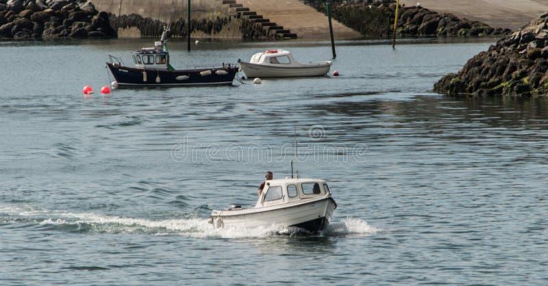 Small motor Boat stock image