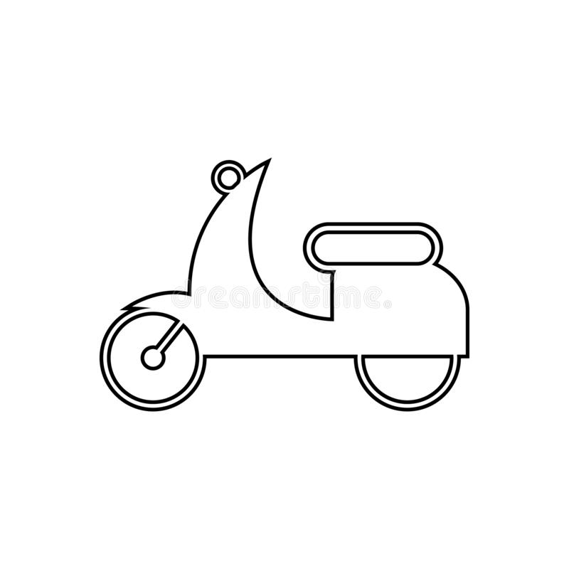 small motorcycle icon. Element of transport for mobile concept and web apps icon. Outline, thin line icon for website design and vector illustration