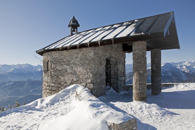 Small mountain chapel royalty free stock image