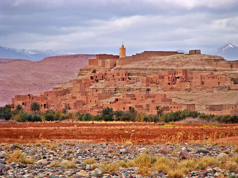 Small mountain village in the Atlas Mountains, Morocco stock photography