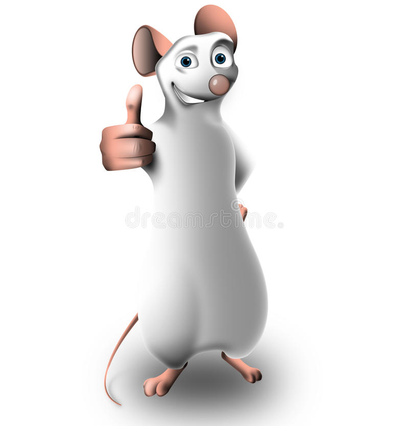 Download Small Mouse In A Positive Pose Stock Illustration - Illustration of character, snow: 24963711