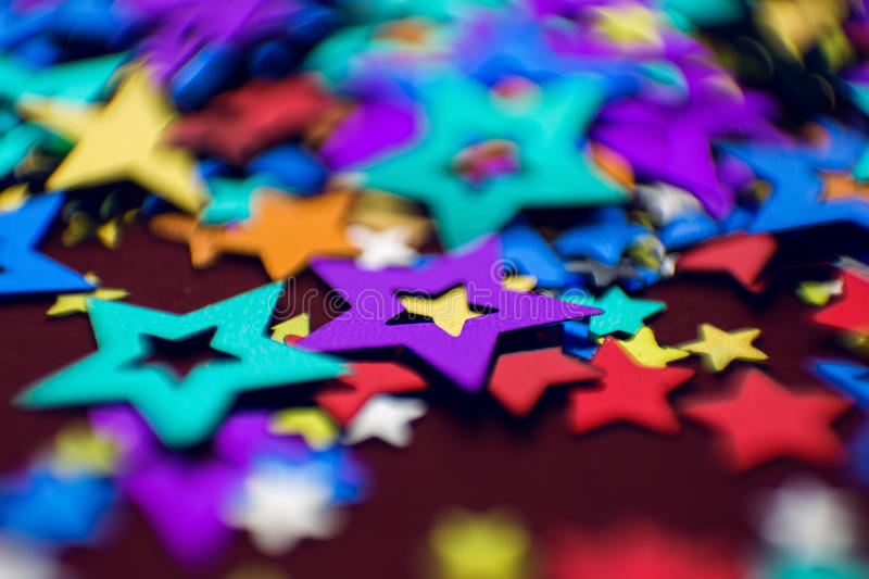 Small multi-colored stars royalty free stock photography